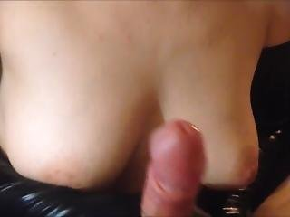 Edging Hand Job In Leather Gloves