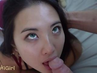 Green Eyed Asian Chokes On White Cock Pov @sukisukigirl