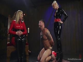 bdsm, blond, rompe, dominatrix, femdom, hårete, håndjobb, latex, milf, fitte, tilbe