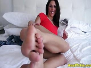 Bootyy Girlfriend Anally Doggystyled On Tape