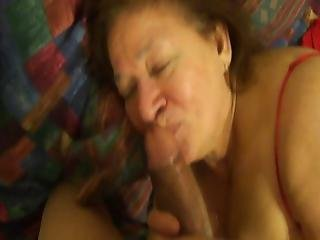 Mexican Granny Sucking Dick And Playing With One Of Her Toys