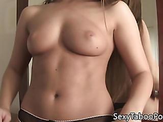 Heeled Hottie Rubs Her Vag