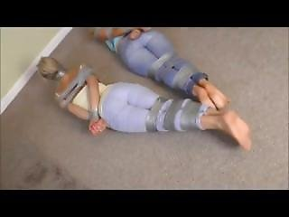 Lacey And Brooke Tapebound And Tapegagged