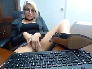 Secretary Caught Masturbating In Office