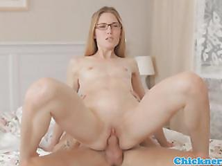 Spex Teen Fucked Hard After Giving A Lesson