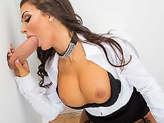 Susy Gala Got Fucked In A Glory Hole In The Bathroom