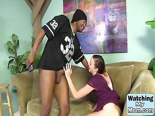 stor svart kuk, svart, avsugning, bröst, brunett, knullar, hårdporr, mellanrasig, milf, trekant
