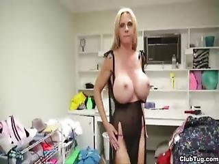 Ct-naughty Milf Jerks Her Step-son S Dick