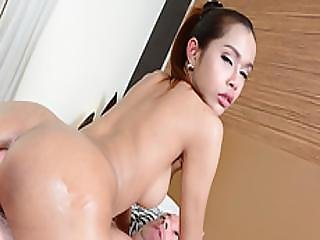 Hot Asian Ladyboy Benz Gets Her Tits And Ass Fucked