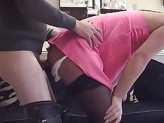 British Upskirt Panty Pervert Painful Anal Then Facial