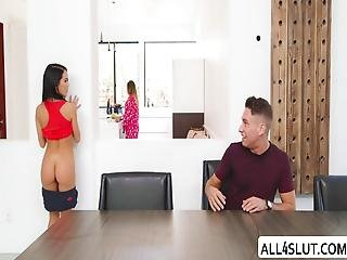 Megan Gets Pussy Slammed By Brads Huge Dick