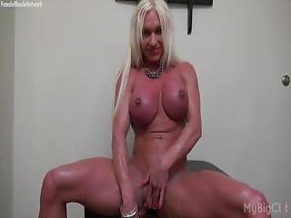 gros clito, blonde, clito, doigtage, milf