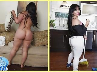 Bangbros - Cuban Milf Maid Carmen De Luz Drops Her Big Ass On J-mac