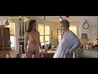 μεγάλο βυζί, διασημότητα, πάτωμα, γυμνό
