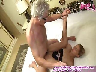 Ugly Old Guy Fucks Young German Blonde Amateur Teen In A Brothel