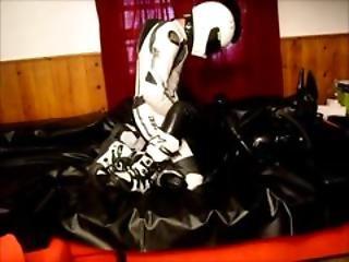 バイクを乗る人, 手袋, ラテックス, レザー, マスク, ラバー, 白い