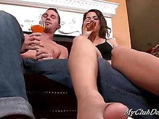 Couple, Domination, Feet, Fetish, Foot, Lick, Submissive, Toes, Torture, Young