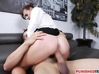 Pretty Brunette Teen Babe Dakota Vixin Fucked In The Office