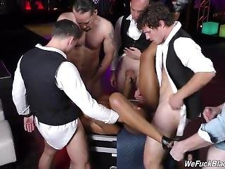 Nadia Jay Fucked By Five White Cocks