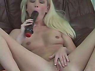 Blonde Hottie Masturbating On Spy Cam On Couch