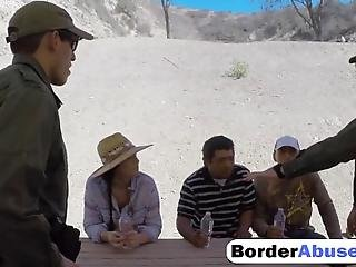 A Border Patrol Agents Bring Men To A Doctor So One Agent Stays Alone With Hot Latina Soon He Fus Her Wet Shaved Pussy In Many Poses