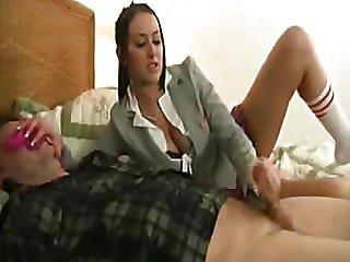 Hottie Schoolgirl Jerks Pervert Stepdad