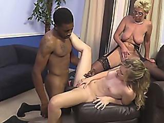 Shameless Daughter Sofie Carter Fucks Black Guy In Front Of Blonde Cougar Taylor Lynn