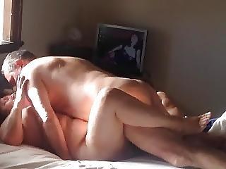 mogen, nudist, fönstertittare, fru