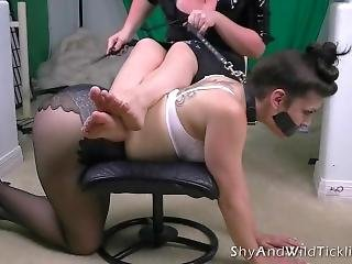 Nylon Spank And Tickle