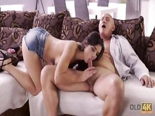Old4k Unsatisfied Chick Motivated Old Dad To Drill Her Butthole