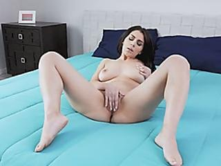 Mesmerizing Hot Brunette Gets Her Pussy Sucked And Fucked Hard By Big Cock