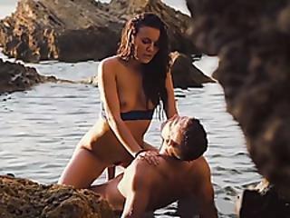 Busty Czech Teen Fucked In The Ocean By Her Lover