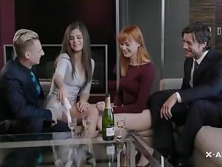 babe, morena, checa, duro, orgía, fiesta, pornstar
