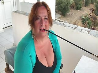 Augusta- A Fetish Smoker With The Longest Holder Ever