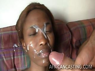 White Cream On Black Faces-huge Facial Compilation Part 1
