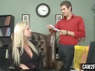 Blonde Secretary: Free Hardcore Porn Video C8