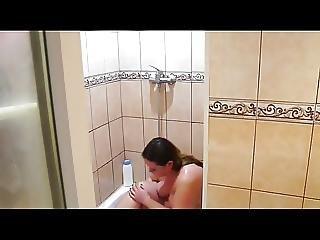 Bbw Spied Showering