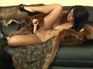 Furslut In Fur Coat