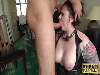 bbw, bondage, peituda, gordinha, ejaculação, foder a cara, foder, pele, mijo, submissa, tatuagem