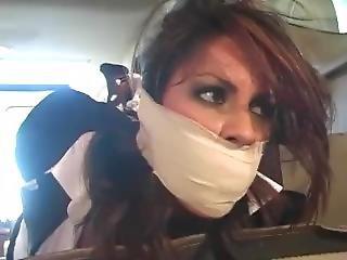 Uppity Girl Tied & Gagged By Car Mechanic