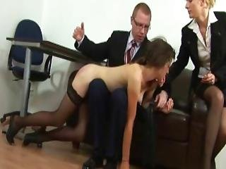 Young Girl Spanked In The Office