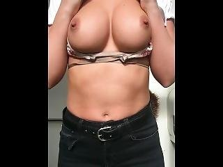 Sexy Girl Playing With Her Big Tits
