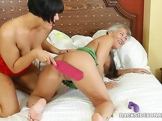 Backside Two Milfs Spank Asses And Lick Assholes