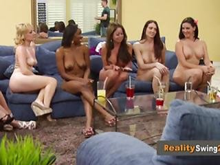 Interracial Swingers Get Into A Big Orgy For A Reality Tv Show In America