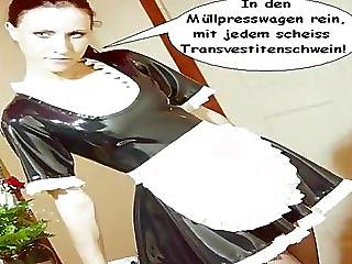 Funny, Latex, Maid, Teen, Transvestite, Uniform
