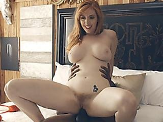 Massive Tits Redhead Woman Lauren Phillips Interracial