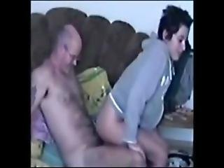 Real-daughter Rides Dads Cock In Hoodie