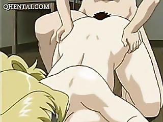Squirting Anime Milf Gets Ass Fucked Hard