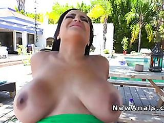 Sexy Huge Tits Latina Gets Anal Fucked Outdoor