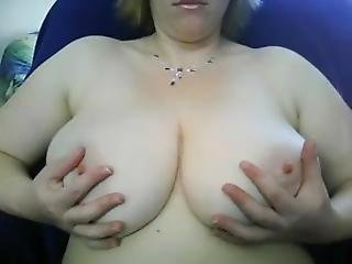 Wife Rubbing Huge Tits